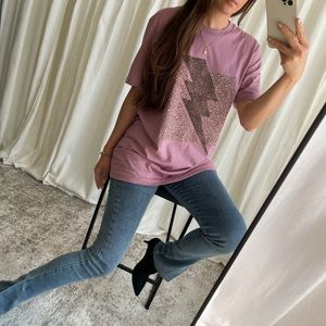 🆕 The Vogue Lightning Tee — Dusty orchid
